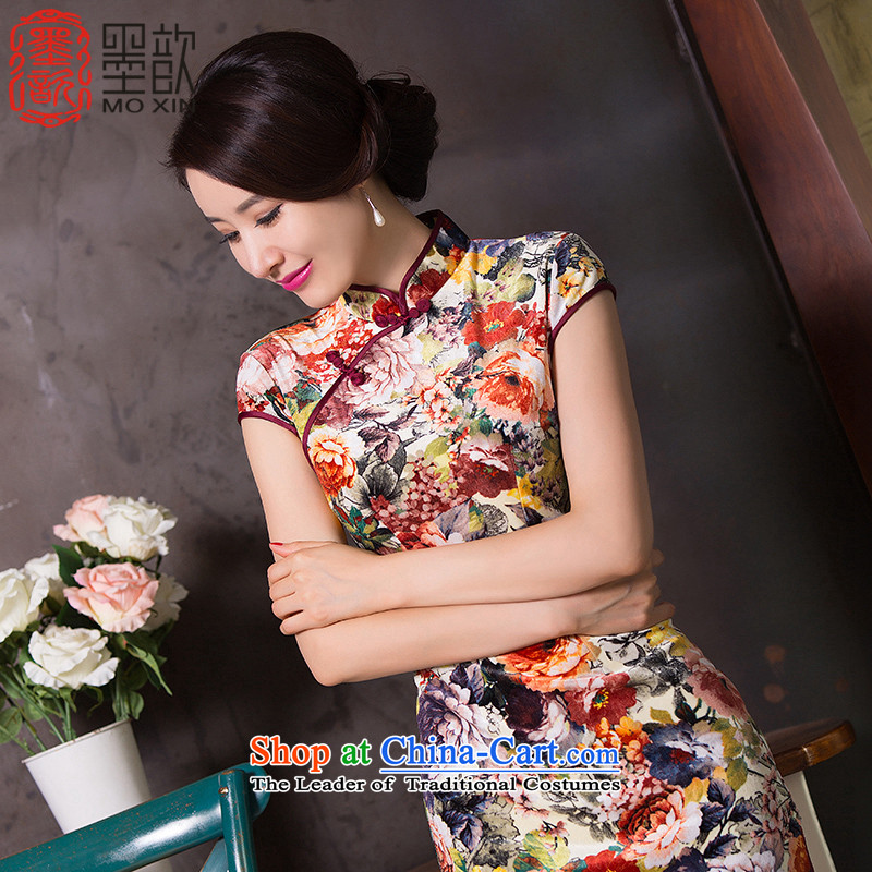 The Hon Audrey Eu Yuet Ling scouring pads qipao ? skirt new retro improved cheongsam dress cheongsam dress燪D265 daily retro爏uit�L
