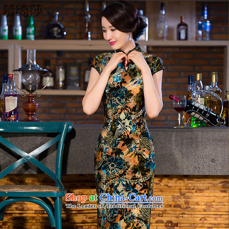 The cheer her old row also scouring pads qipao ethnic Mother Women's clothes retro temperament improved qipao dresses in long燪 257爏uit燬