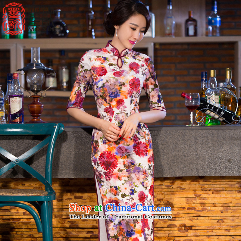 The print image-New ? Stylish retro improved qipao 2015 skirt cheongsam dress qipao gown length-to-day Sau San qipao QD267 SUIT�S