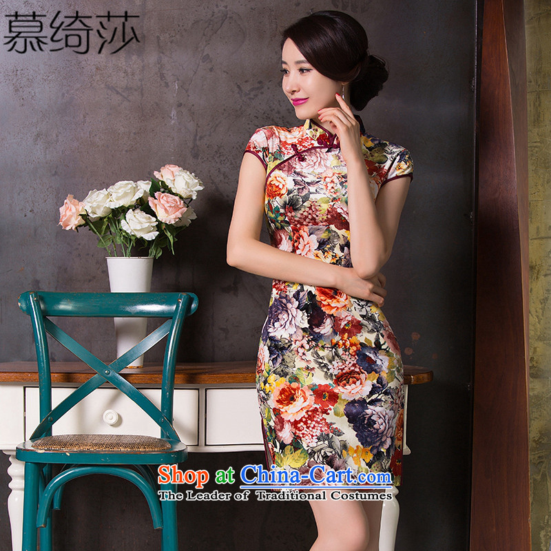 The cross-Sha Wan cloud燼utumn 2015 replacing skirt new qipao velvet temperament qipao improved retro style qipao dresses Chinese Dress燪 265燬uit燤