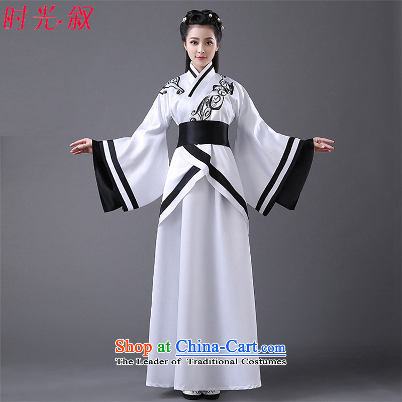 The time of the ancient Syrian tracks with fairies cosplay costumes were modified classical Han-Da Tang Princess photographic portrait Gwi-stage woman will start with the white white dress photo building are suitable for 160-175cm code