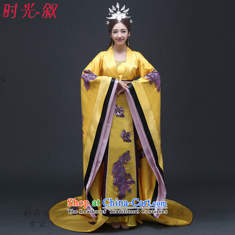 Time Syrian Wu musicals with videos, Tang Dynasty emperors costume Queen's concubines child Empress Wu clothing tail queen wearing Gwi-loaded east is endowed adult_