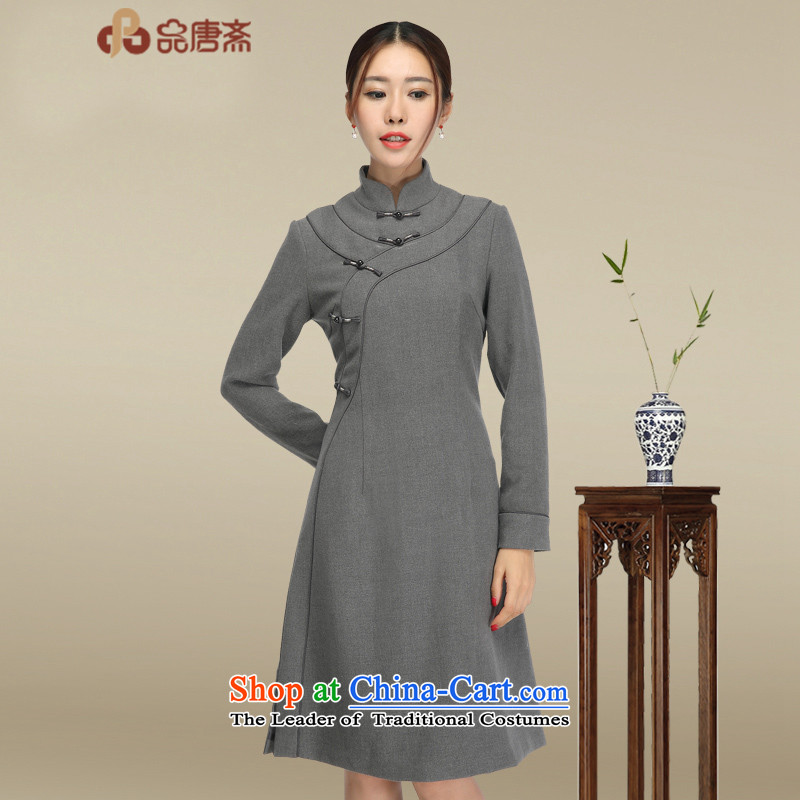 No. of Ramadan retro long-sleeved qipao short skirt women聽2015 new products of ethnic women arts retro dresses picture color聽XL