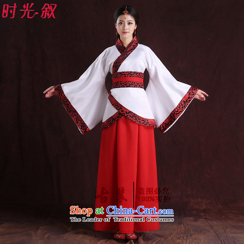Time Syrian porcelain improved female Han-You can multi-select attributes by using women's ancient skirt around the collar of ancient single tracks in deep yi formal summer Algeria skirt female new white photo building are suitable for 160-175cm code
