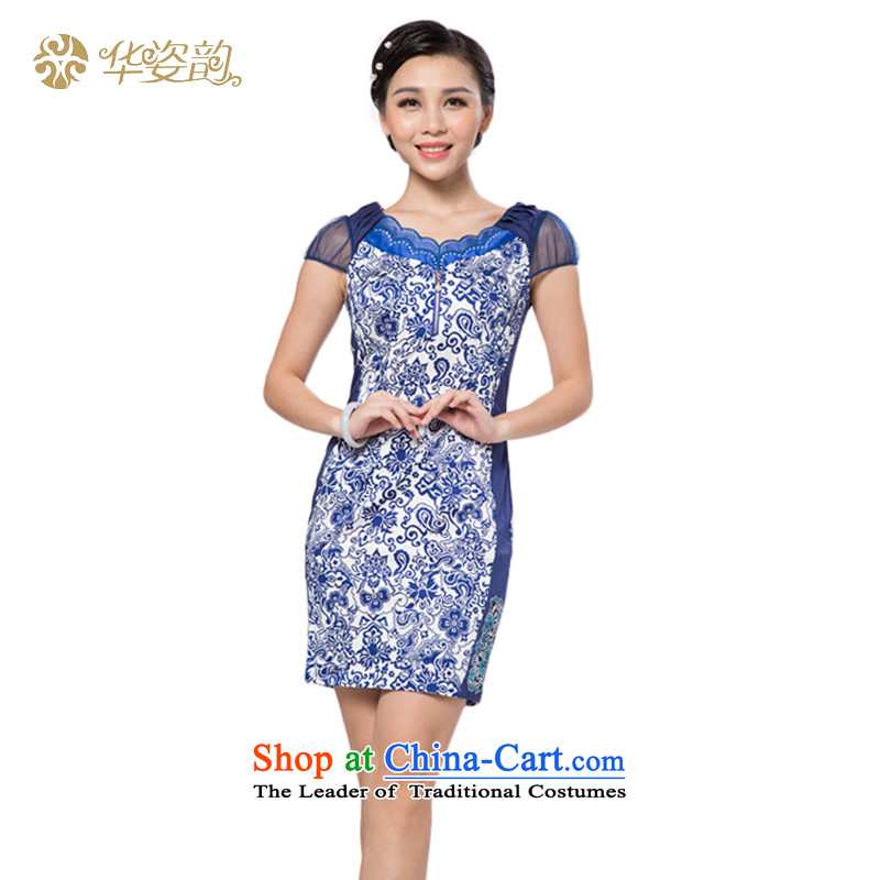 China following the new summer Gigi Lai and the relatively short time of Ms. qipao package and Sau San dresses cheongsam dress improved qipao improved summer purple?S