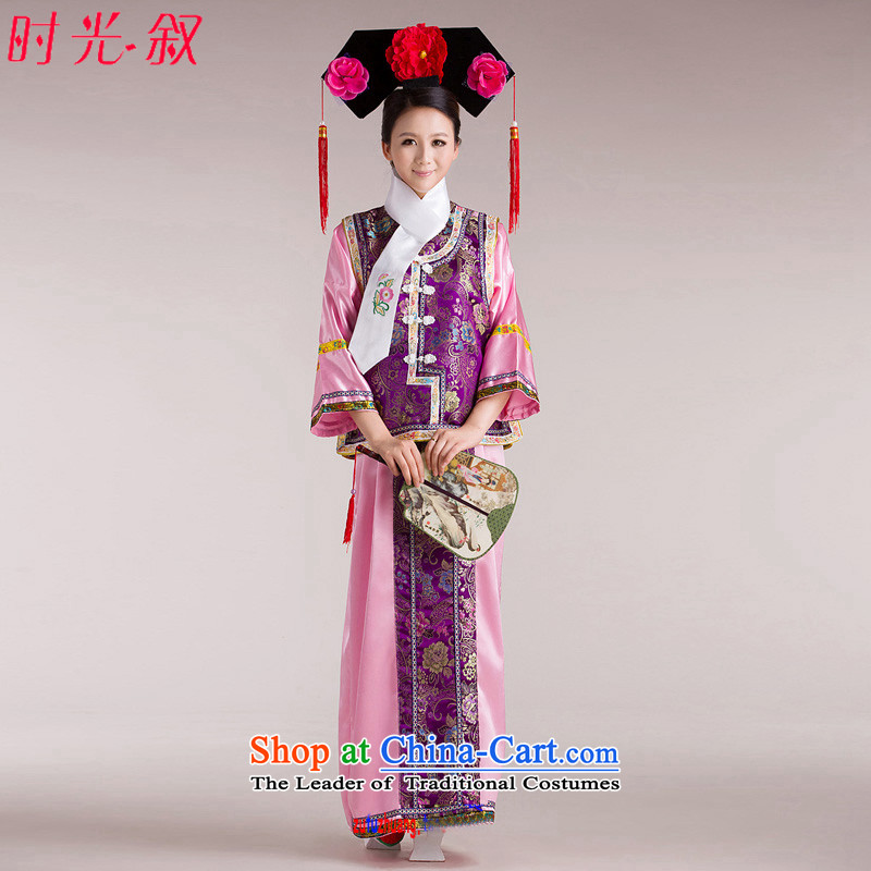 The Qing dynasty Princess Returning Pearl ancient Syrian hour service will be disabled women screened costume princess sub flag to ancient gwi cosplay Manju Palace powders, a first floor is suitable for 160-175cm code