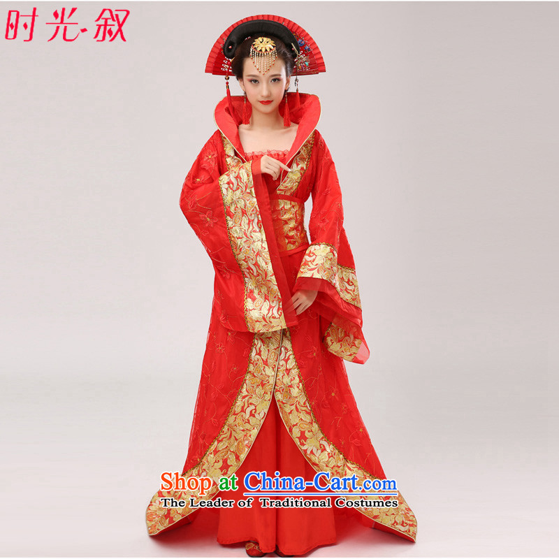 Time Syrian ancient clothing Gwi-Tang Dynasty Queen's fairy tails will Han-Princess ancient female cos Tang dynasty Empress after Han-red costumes are code for 160-175cm floor