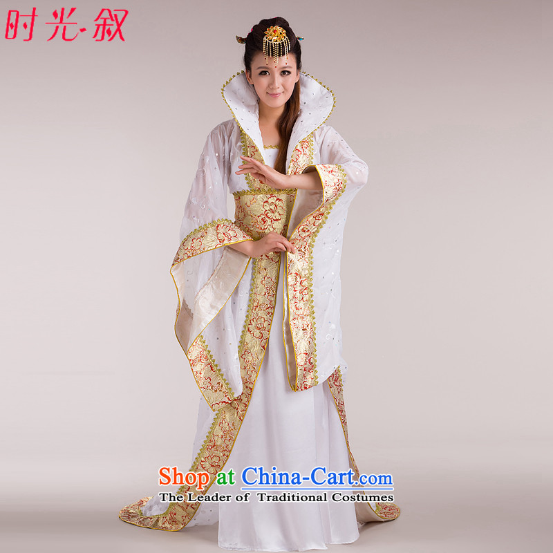 Time of the Tang dynasty princess Gwi-Syrian fairies skirt clothing palace tail Queen's princess sub-stage costumes Tang Han dynasty white photo building are suitable for 160-175cm code