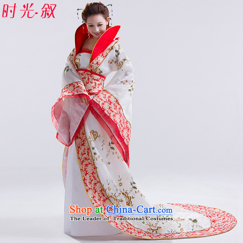 Time the new Syrian_ Wu Videos Gwi Princess fairies costume Gwi Tang Dynasty Han-clothing after her ancient costumes female cos white photo building are suitable for 160-175cm code