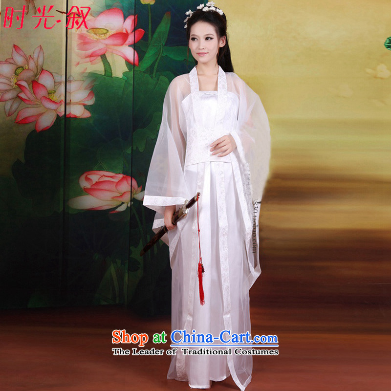 Time of the Tang dynasty princess Gwi-Syrian fairies skirt clothing court stage costumes Tang dynasty historian will wind cosplay photo album Tang Women's clothes white photo building are suitable for 160-175cm code