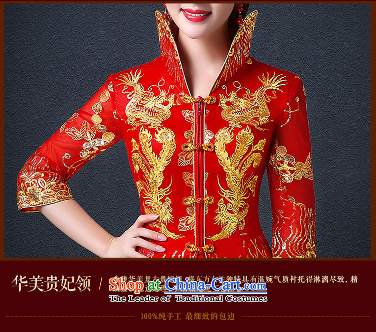 Hillo (XILUOSHA) Elizabeth bride bows wedding dresses long-sleeved longfeng services use red wedding dress long bows dress Chinese autumn RED聽M picture, prices, brand platters! The elections are supplied in the national character of distribution, so action, buy now enjoy more preferential! As soon as possible.