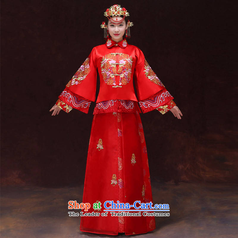 Tsai Hsin-soo Wo Service dream Chinese bride dress-retro-marriage bows Services Red Classics cheongsam dragon costume wedding gown use Bong-sam Hui-hsia -soo s previous Popes are placed 290 Wo brassieres 94