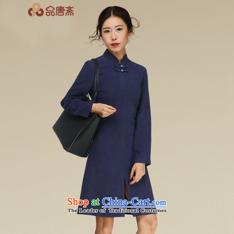 No. of Ramadan cheongsam dress Tang autumn 2015 new ethnic retro women's dresses map color M