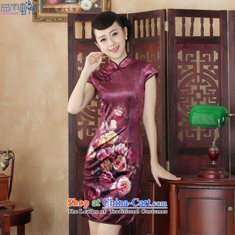 Daily new qipao retro style qipao Kim velvet Sau San Tong replacing short_聽SRDX0001 S