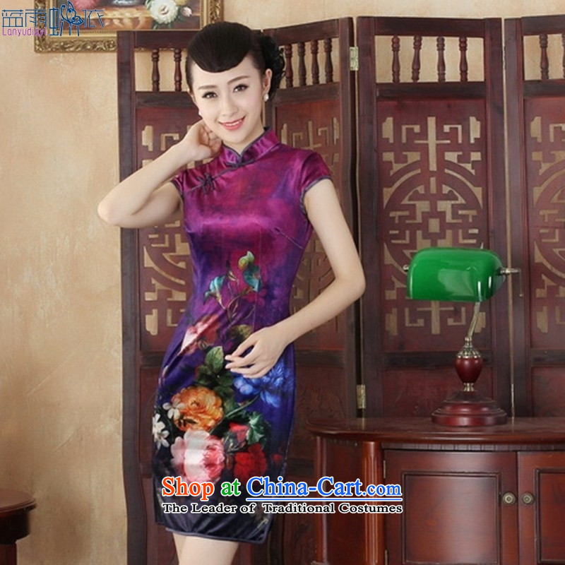 During the spring and autumn, the velvet large stylish diagram qipao Sau San Tong replacing short) SRDX0002 M