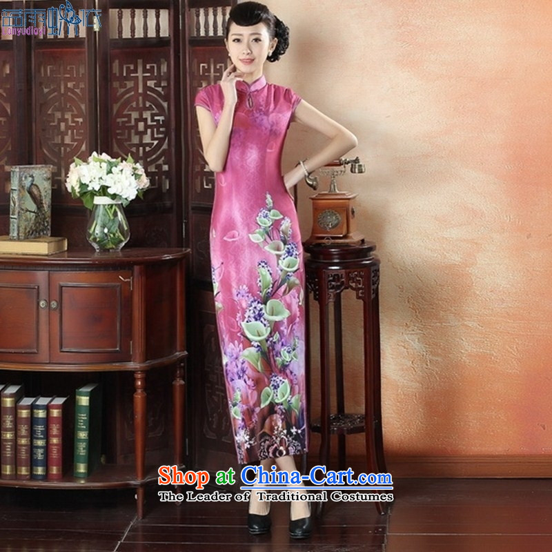 New stylish dresses elegant sexy beauty video thin cheongsam dress retro Show elegance of Qipao�CQP0008 XXL