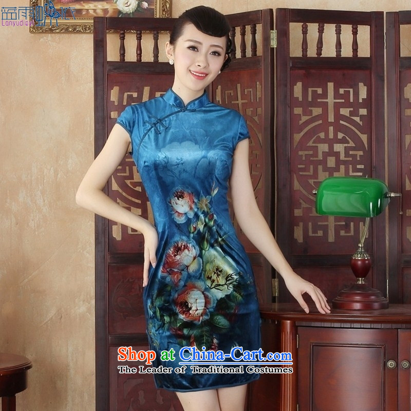 Retro style qipao Kim velvet Sau San Tong replacing short_聽SRDX0003 S