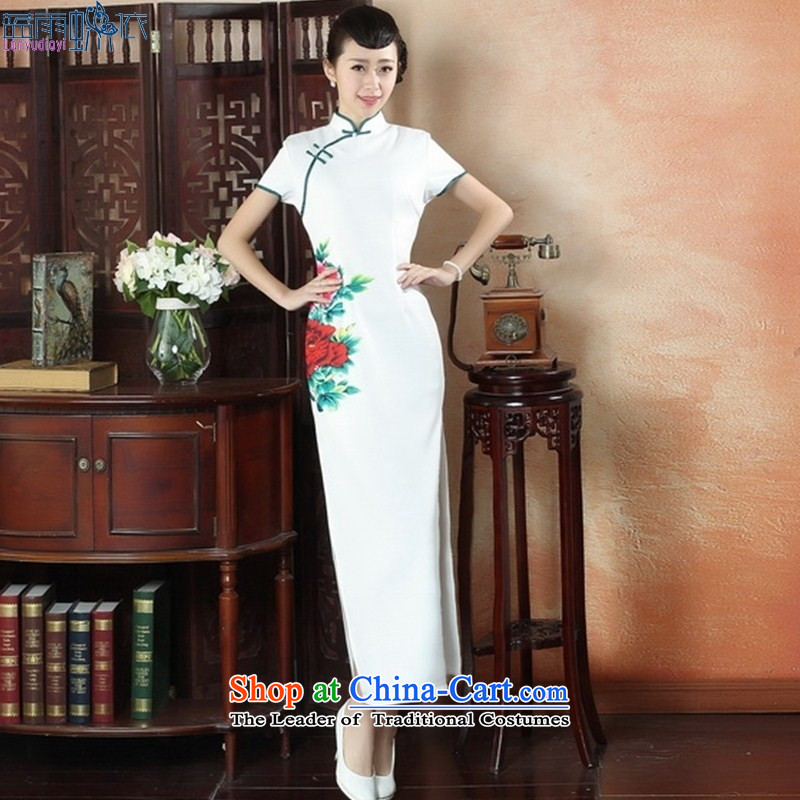 Dulls) Ethnic bride dress cheongsam dress Stylish retro long qipao Sau San dresses�CQP0007 XXL