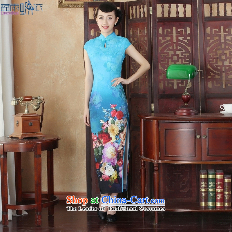 The new long qipao early autumn high on the forklift truck and sexy retro large ceremonial stage performances dinner�CQP001 L