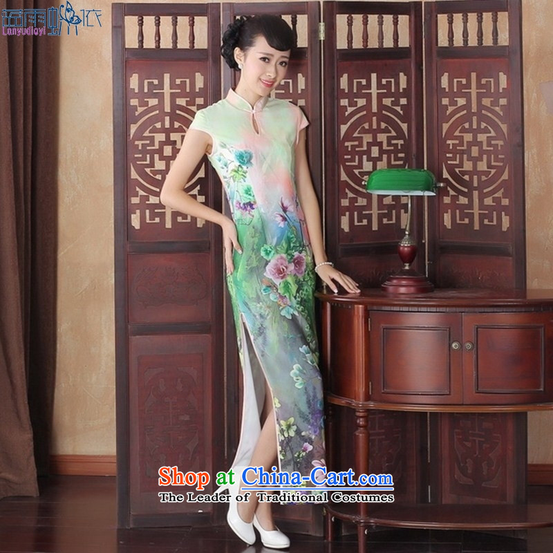 Elegant and sexy beauty video thin dresses retro show long elegance qipao gown CQP0005 new XL