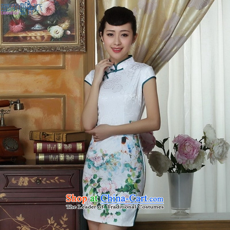 New elegant reminiscent of the Sau San short cheongsam dress spring and summer load stylish�THM0063 daily Ms. M