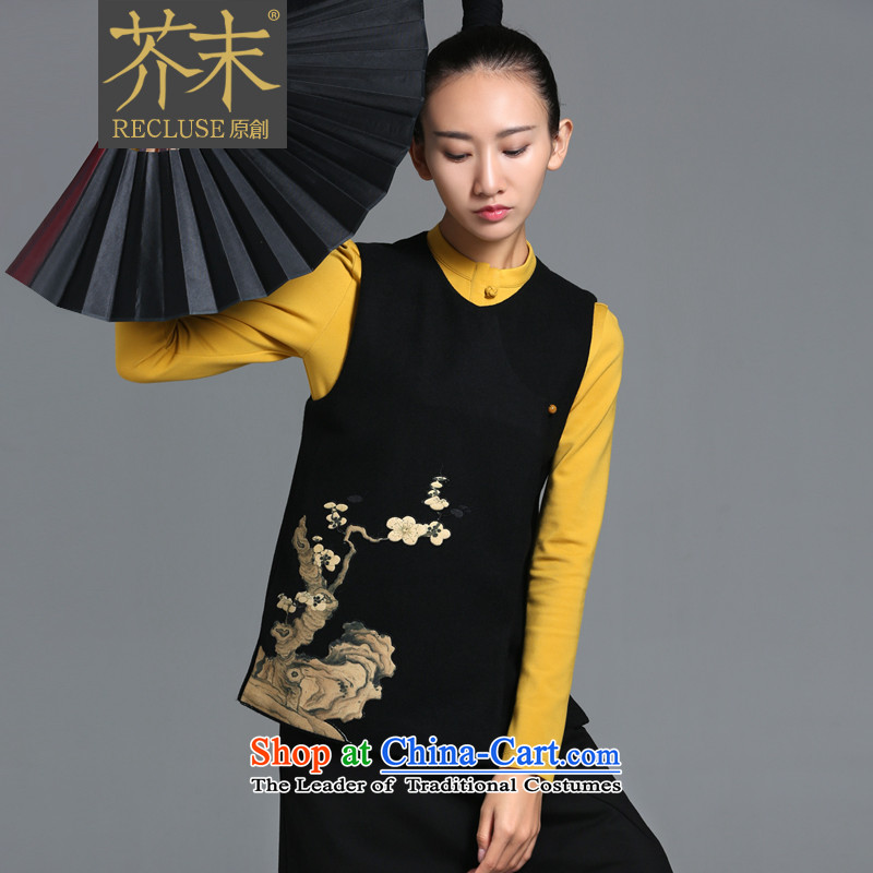 ? mustard original as soon as possible next to Plaza/China wind original personalized stamp affixed to the design, a woman embroidered short-pack Black Spot�M