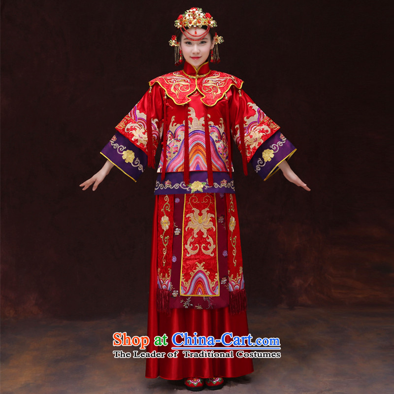 Tsai Hsin-soo Wo Service dream 2015 new bride bows serving Chinese retro-hi-Dragon Chinese qipao use wedding dresses Bong-Koon-hsia previous Popes are placed a?M chest clothing 98