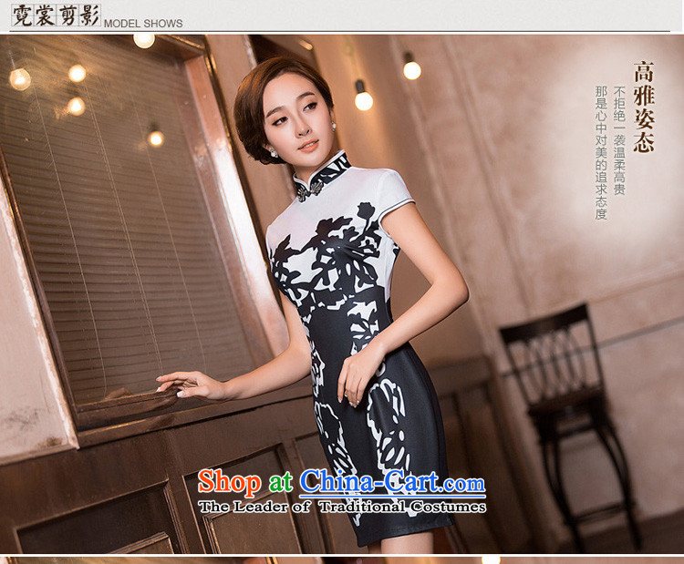 Time the聽new 2015 Syria cheongsam dress fall short of daily fashion replacing video Ms. thin retro Sau San cheongsam dress black聽XXL picture, prices, brand platters! The elections are supplied in the national character of distribution, so action, buy now enjoy more preferential! As soon as possible.