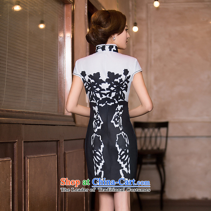 Time the聽new 2015 Syria cheongsam dress fall short of daily fashion replacing video Ms. thin retro Sau San cheongsam dress black聽XXL, time Syrian shopping on the Internet has been pressed.