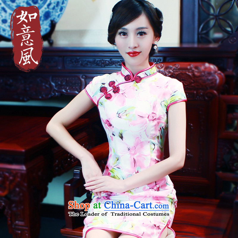 After a new spring and autumn wind 2015 Chinese classical ornate brocade coverlets recommended Stylish retro short qipao improved 5704 5704 suit S pre-sale 7 Days