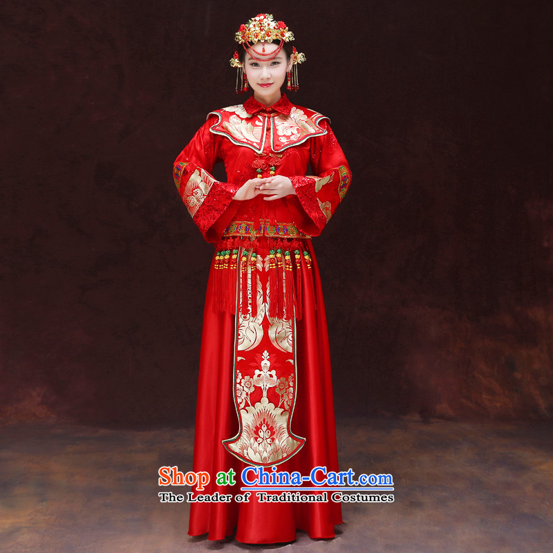 Tsai Hsin-soo wo service of the dragon and the use of the southern Chinese qipao gown marriage services bows dress retro wedding costume wedding dresses and Phoenix use Bong-Koon-hsia MACRAME M chest previous Popes are placed 98