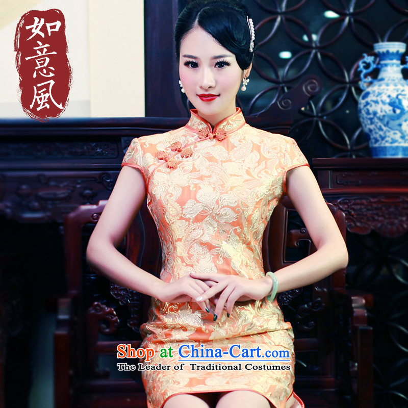 After a new spring and autumn wind qipao brocade coverlets temperament qipao cheongsam dress improved Stylish retro dresses qipao gown 5708 5708 Suit�M