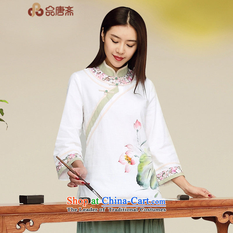No. of Ramadan 2015 fall short of the new national wind retro Tang Women's clothes long-sleeved T-shirt picture color cotton linen聽XL