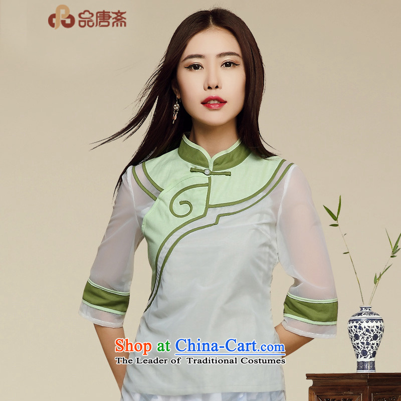 Tang Tang Ramadan 2015 Autumn New China wind retro improved Tang dynasty blouses picture color M