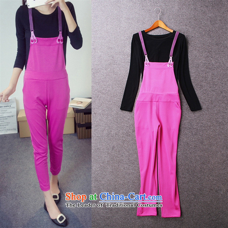 Install the latest Autumn 2015 Hami, Western female european style of red site jumpsuits two kits B0809 figure聽S