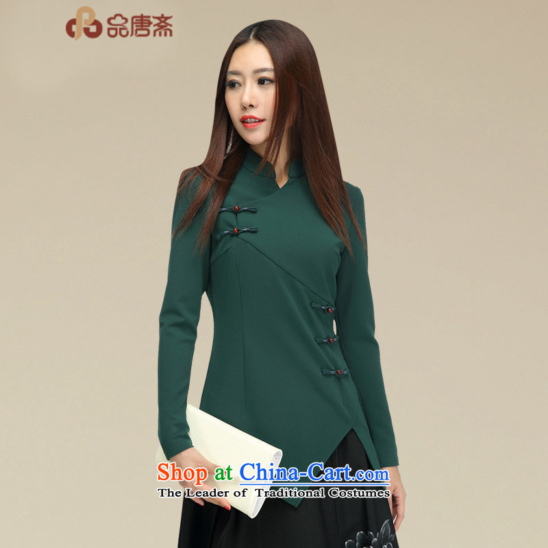 No. of Ramadan 2015 Autumn Load Tang New Han-chinese women of the Republic of Korea, improved service long-sleeved shirt qipao tea picture color?L