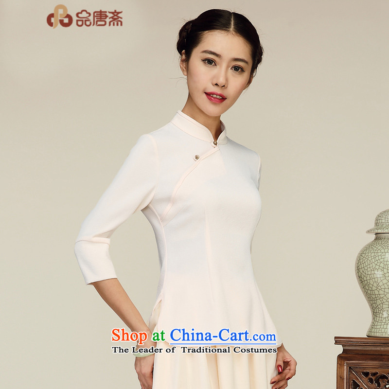 No. of Ramadan 2015 fall short new improved Tang dynasty China wind qipao tea services shirt picture color S
