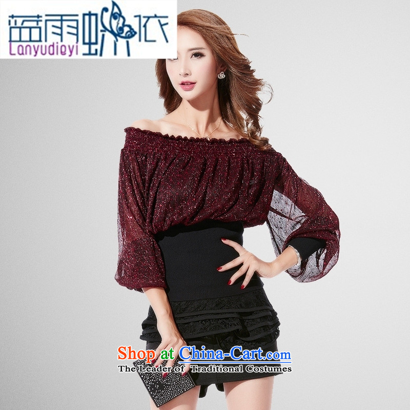 Ya-ting shop 2,015 Yuan Qiu new sense of the reformer fluoroscopy lace dresses Korean Knitting Sau San package and dresses silver M