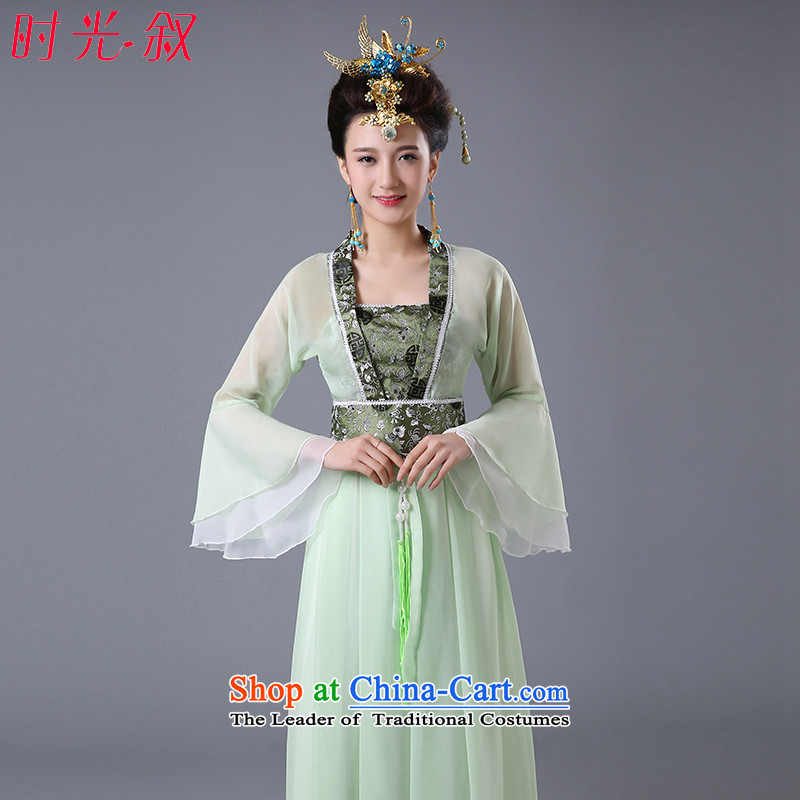 Syria Han-hour costume skirt costume clothing will transpose the mattress with skirt the chest mattress skirt Wu Tang Dynasty Han-classical cos female green聽L