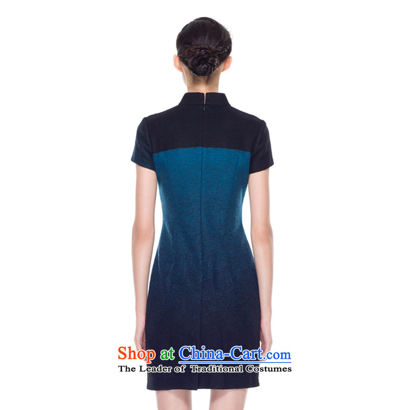 The Chinese women's really replace Embroidery Apron, extra thick wool qipao improved female skirt 2015 Autumn new products 43178 10 Blue聽M : The True , , , shopping on the Internet