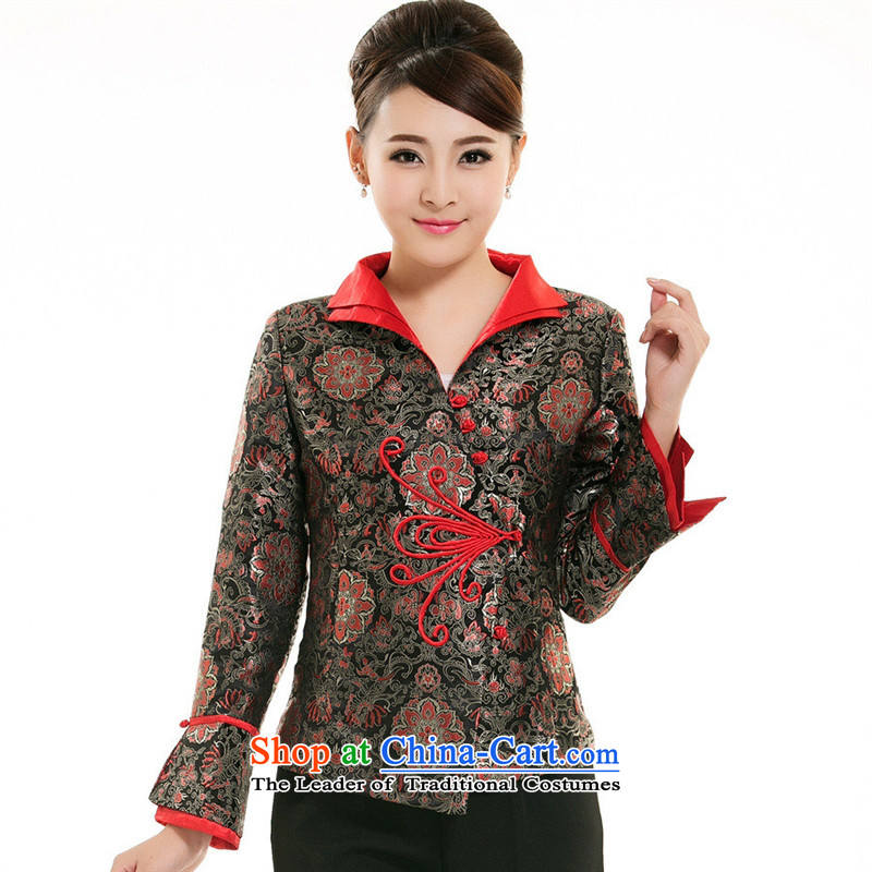 The hotel-hwan for autumn and winter clothing replacing Tang dynasty women long-sleeved teahouse attendants tea arts garment foot bath technician uniforms red?XXL