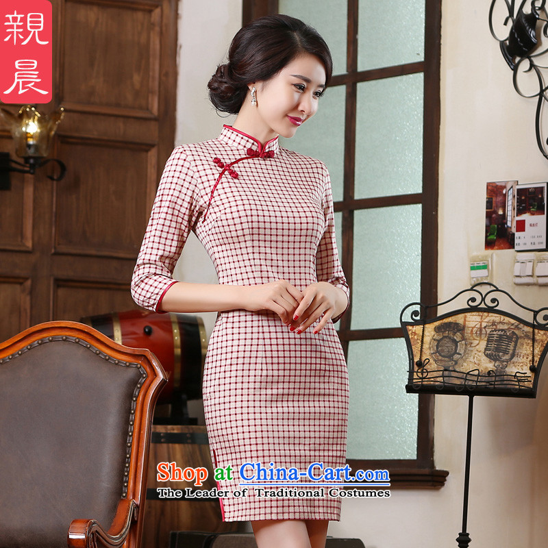 The pro-am new improved cotton robes in summer and autumn 2015 replacing daily retro Chinese republic of korea wind dresses in short-sleeved)?S