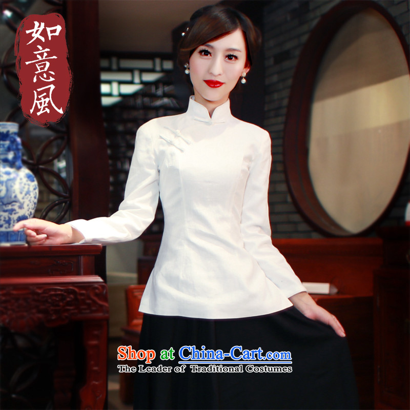 After a day of Tang Dynasty Wind Jacket improved Han-girl cheongsam shirt retro ETHNIC CHINESE CHEONGSAM Dress Shirt 5805 Toiletroll Holder White燤 5805 Toiletroll Holder