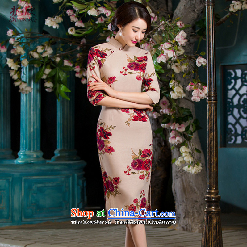 Siu Yan Chau Load 2015 new stamp Sau San video thin retro. In long-sleeved cheongsam dress female full�XXXL Park