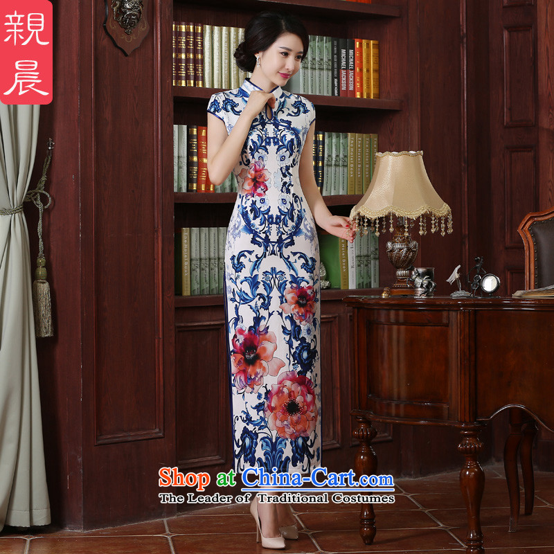 The pro-am new?Qipao Length of 2015 summer day-to-large Chinese antique dresses improved long�2XL