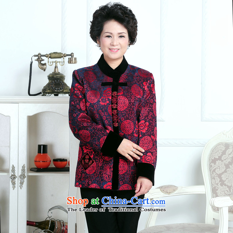 70-year-old women aged 80 15 fall jacket, older persons T-shirt with winter jackets mother Grandma Tang Dynasty hailed the picture color聽XL