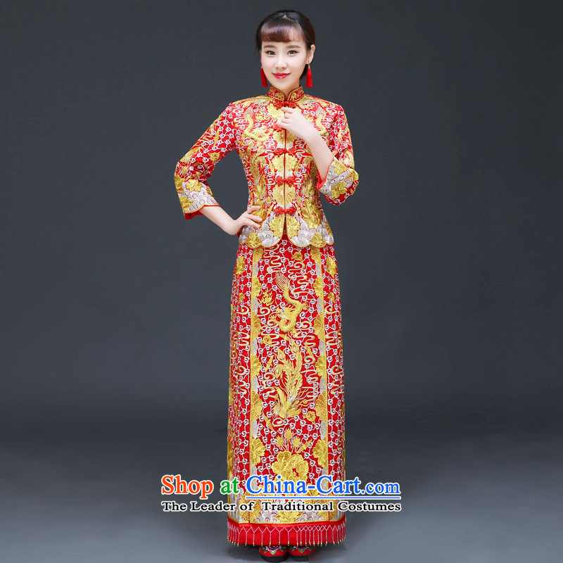 The Royal Advisory Soo-wo service friendly new Chinese wedding dresses bows services to the dragon costume Hei services use the wedding dress Sau Fung Koon-hsia previous Popes are placed and the dragon and a set of?L of use clothing chest 92