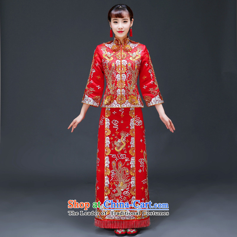 The Royal Advisory Groups to show friendly new Bong-Koon-hsia retro Chinese bride dresses previous Popes are placed wedding marriage services red dragon qipao bows should start with the wedding dress clothes of a set of recommended head-dress +�S Breast 8