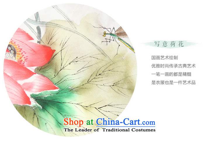The intuition of the new ink autumn flowers cotton linen clothes Chinese Tang dynasty Han-long-sleeved Tea Arts female white L T-shirt, prices, brand image of Platters! The elections are supplied in the national character of distribution, so action, buy now enjoy more preferential! As soon as possible.
