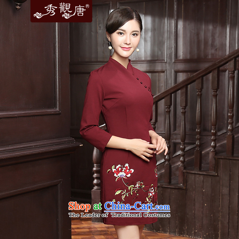 [Sau Kwun Tong] incense Overgrown Tomb new autumn 2015 section of fine embroidery warm. Ms. qipao QZ5809 cuff聽XXL, English thoroughbred Soo-Kwun Tong shopping on the Internet has been pressed.